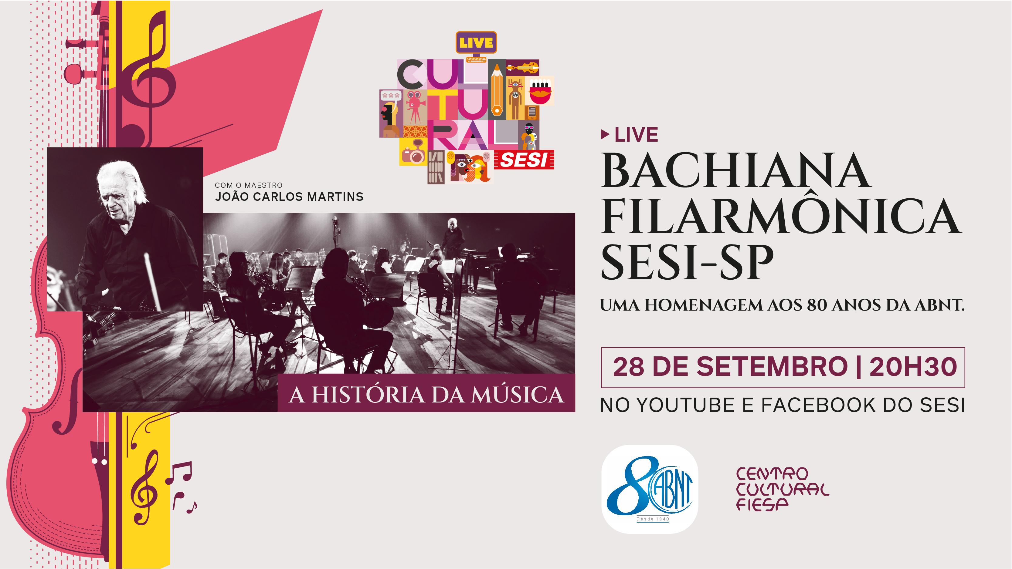 O maestro estará no comando da Bachiana Filarmônica Sesi-SP. O concerto contará ainda com a presença da soprano Anna Beatriz Gomes e do tenor Jean William