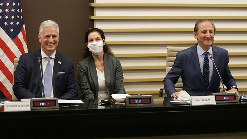 Expectativa é que novo acordo comercial bilateral seja anunciado. Conselheiro também debateu, além do livre comércio, as restrições de viagem impostas pela Covid-19