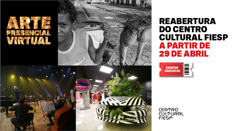 Seguindo as orientações do Plano São Paulo, o Centro Cultural Fiesp vai retomar suas atividades presenciais parcialmente