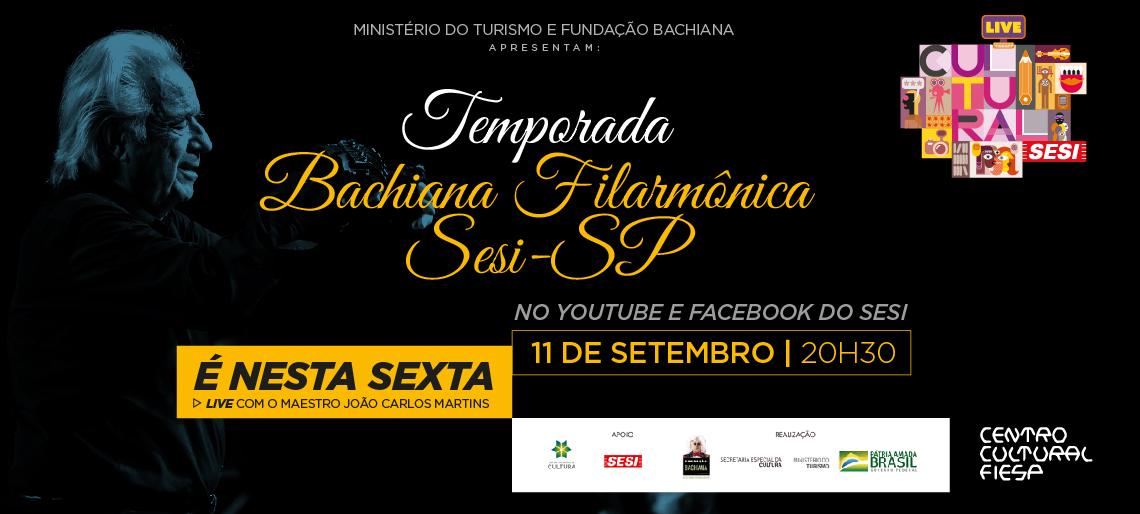 Agende-se: o concerto será transmitido pelos canais do Sesi-SP no Facebook e YouTube nesta sexta-feira, 11/9