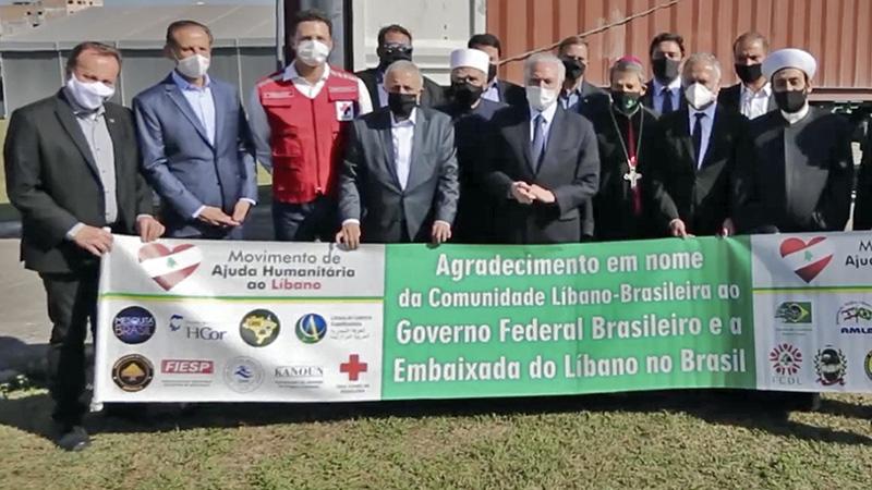 O presidente da Fiesp e do Ciesp, Paulo Skaf, acompanhou o carregamento de medicamentos, insumos hospitalares e alimentos destinados à população em Beirute