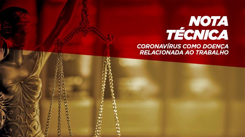 Documento menciona especificamente o tema coronavíruscomo doença relacionada ao trabalho
