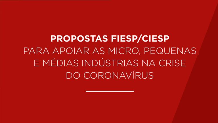 Propostas Fiesp/Ciesp para apoio na crise do Coronavírus.