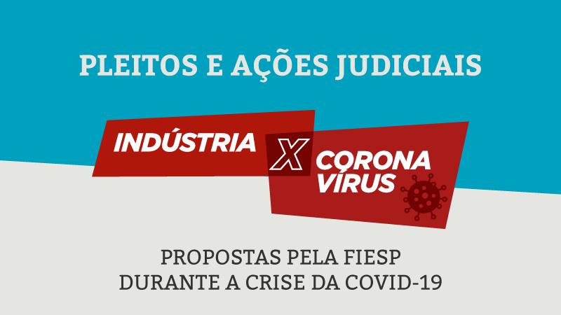 Pleitos e ações judiciais propostas pela FIESP durante a crise da COVID-19.