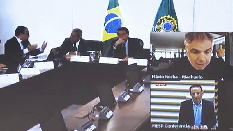 Reunião estava na agenda do Conselho Diálogo pelo Brasil, grupo que reúne cerca de 50 presidentes e acionistas dos maiores grupos privados do país