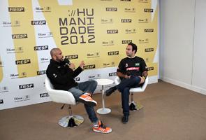 José Junior com o diretor-titular do CJE, Sylvio Gomid