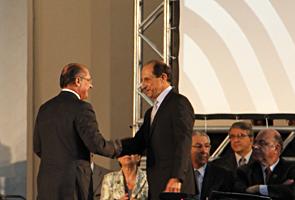 O governador de São Paulo, Geraldo Alckmin, e o presidente da Fiesp/Ciesp, Paulo Skaf. Foto: Junior Ruiz