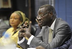 Presidente da Confederação das Indústrias do Senegal, Mansour Cama, na Fiesp. Foto: Everton Amaro