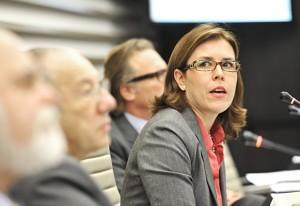 Ana Repezza, gerente geral da Apex, durante reunião do Coscex/Fiesp. Foto: Everton Amaro