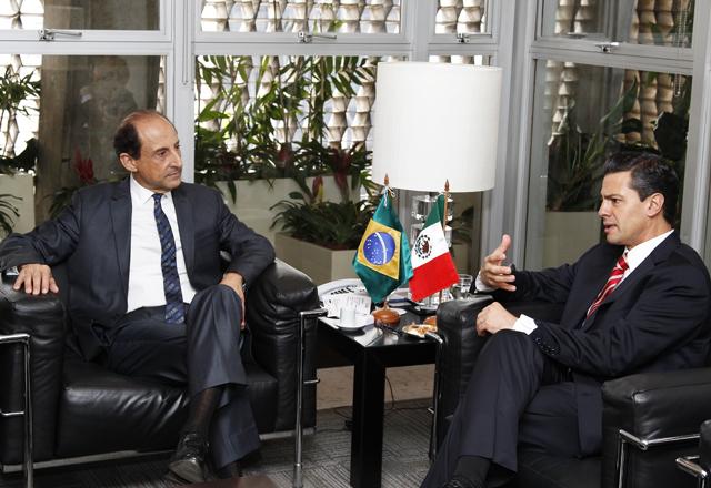 Paulo Skaf e Enrique Peña Nieto, na Fiesp. Foto: Junior Ruiz