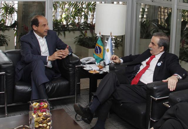 Paulo Skaf e Guillermo Moreno, secretário de Comércio Interior da Argentina. Foto: Junior Ruiz