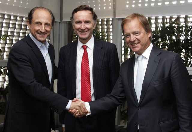 Paulo Skaf recebe o ministros Lord Green (Reino Unido) e Hugo Swire (Irlanda). Foto: Junior Ruiz