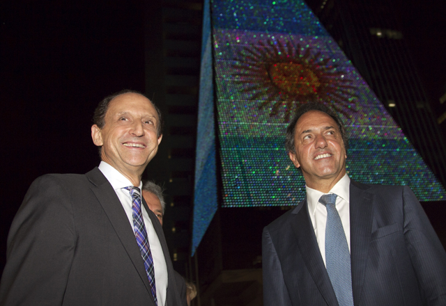 Paulo Skaf recebe o governador da Província de Buenos Aires, Daniel Scioli. Foto: Junior Ruiz