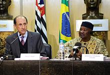 Paulo Skaf, presidente da Fiesp e  Amadou Toumani Touré, presidente  da República de Mali. Foto: Vitor Salgado