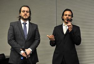 [640x440] Reunião conjunta Comtextil e Comcouro. Mathias Susemihl e Carlos Eduardo Raia. Foto: Julia Moraes