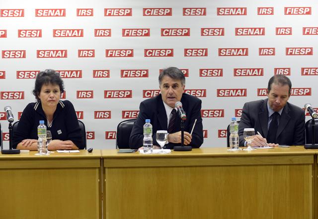Claudia, Berkovitz e Zardo Jr no terceiro módulo de treinamento do Nagi - PG. Foto:  Helcio Nagamine/Fiesp
