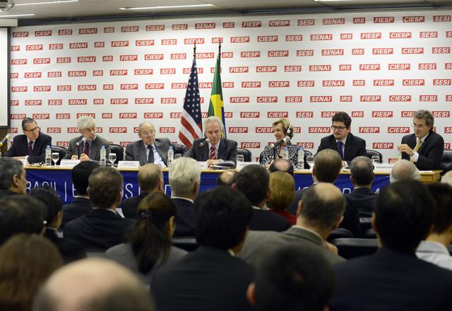Fórum Brasil-Estados Unidos: mais produtividade. Helcio Nagamine/Fiesp