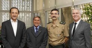 Skaf, Gen. Ex Esper, Gen Bda. Stoffel e Gen Ar Azevedo: respeito e admiração pelo país. Foto: Junior Ruiz/Fiesp
