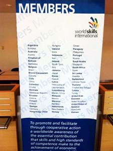 Painel com todos os países participantes do evento. Foto: José Carlos Dalfré
