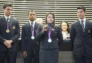 Renata em homenagem aos medalhistas do WorldSkills na Fiesp. Foto: Ayrton Vignola/Fiesp