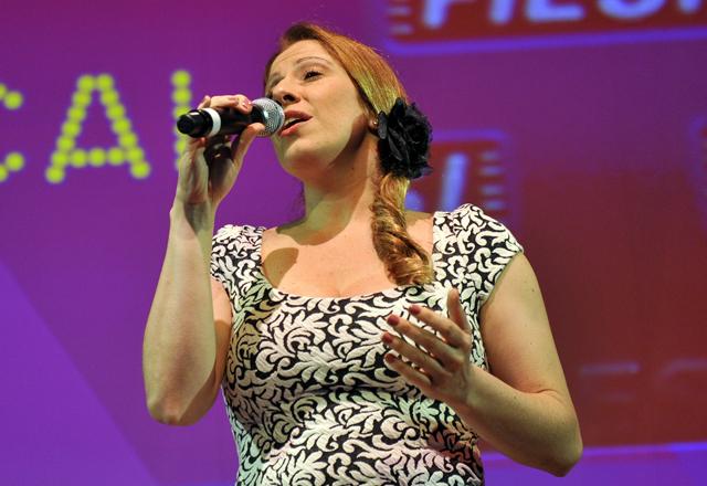 Paula: ansiedade e atenção aos detalhes da produção do musical durante os ensaios. Foto: Everton Amaro/Fiesp