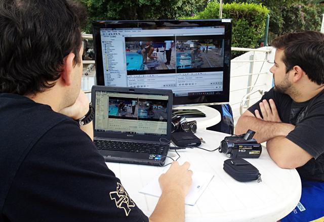 Imagens do desempenho dos atletas são analisadas com o auxílio de softwares específicos. Foto: Guilherme Abati/Fiesp
