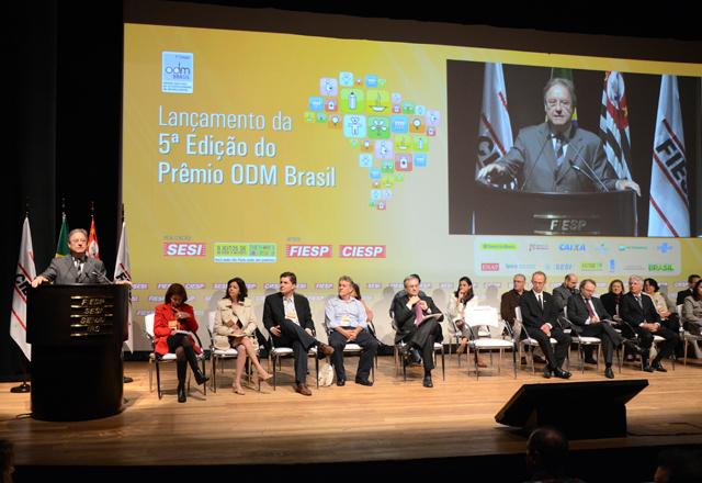 A abertura de lançamento do Prêmio ODM Brasil, feita por Loures. Foto: Helcio Nagamine/Fiesp