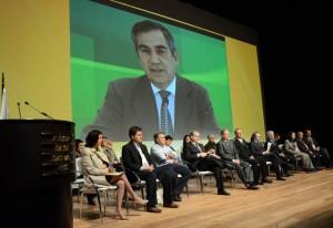 Carvalho enviou uma gravação para ser exibida no evento: a mortalidade infantil caiu de 26,1 óbitos em 2001 para 15,7 em 2011. Foto: Helcio Nagamine/Fiesp