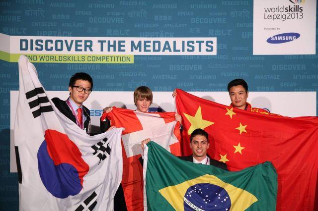 Henrique Santana foi o primeiro colocado em fresagem a CNC no WorldSkills 2013. Foto: Divulgação