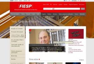 O novo espaço dedicado ao setor têxtil no site da Fiesp