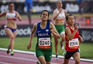 A atleta do Sesi-SP Verônica Hipolito: ouro e prata no Mundial de Lyon. Foto: Divulgação/CPB
