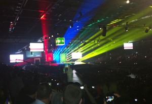 O evento de abertura do WorldSkills 2013: 9 mil participantes. Foto: José Carlos Dalfré/Senai-SP