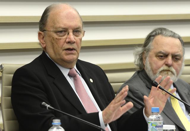 Ruy Martins Altenfelder Silva, à esquerda, e Adhemar Bahadian: reflexões profundas. Foto: Helcio Nagamine/Fiesp