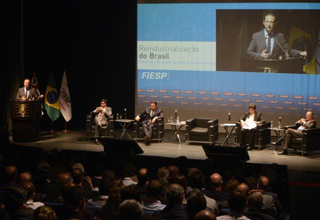 Paulo Skaf abriu o seminário sobre reindustrialização no dia 26 de agosto, na Fiesp. Foto: Helcio Nagamine/Fiesp
