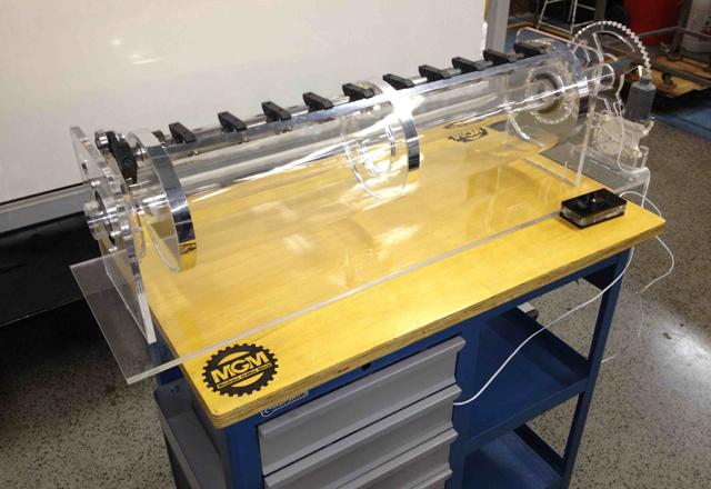 O simulador: peso de 40 quilos permite o uso em bancada, na sala de aula. Foto: Divulgação