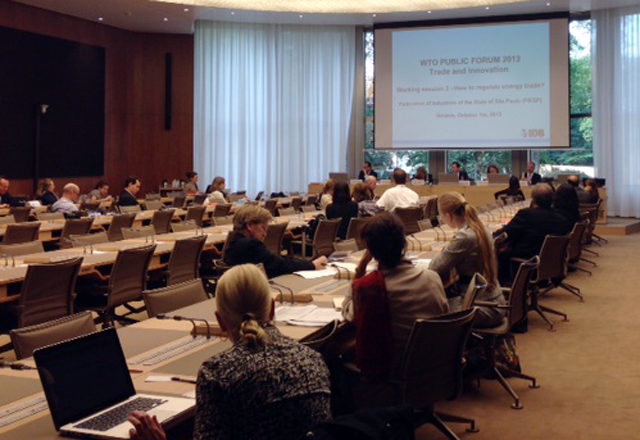 A reunião para a apresentação do livro sobre energia em Genebra, na Suíça.  Foto: Silvia de Carvalho/Fiesp