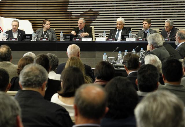 A reunião de apresentação  de estudos do Plano Diretor de Aproveitamento de Recursos Hídricos na Fiesp. Foto: Beto Moussalli/Fiesp