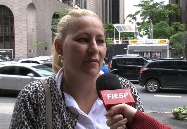 """Liliane: """"A gente não tem nem infraestrutura básica necessária, não dá"""". Foto: Fiesp"""
