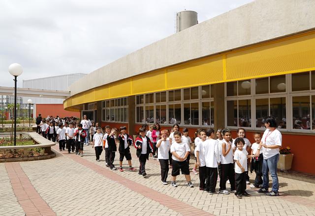 A unidade do Sesi-SP a ser inaugurada nesta sexta-feira (08/11) em Hortolândia: novo modelo educacional. Foto: Ayrton Vignola/Fiesp
