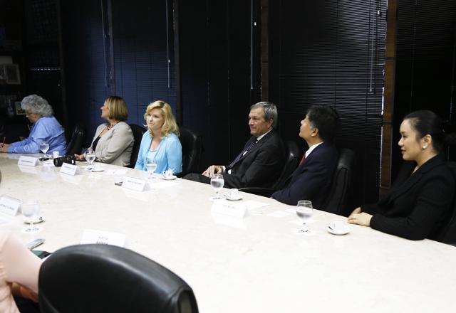 Os senadores da California em visita à Fiesp nesta quinta-feira (21/11). Foto: Beto Moussalli/Fiesp