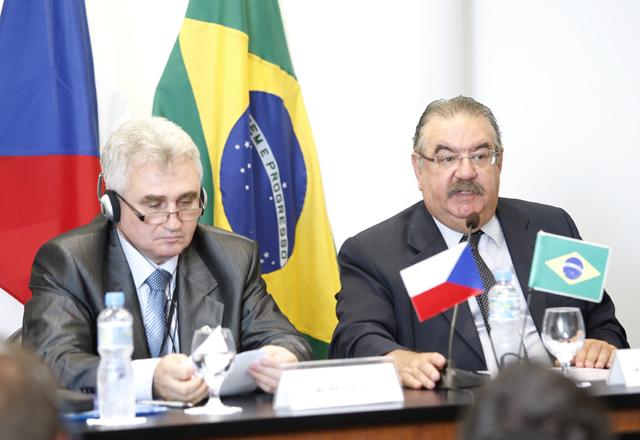 Stech, à esquerda, e Bessa: mais parceria e cooperação entre o Brasil e a República Tcheca. Foto: Everton Amaro/Fiesp