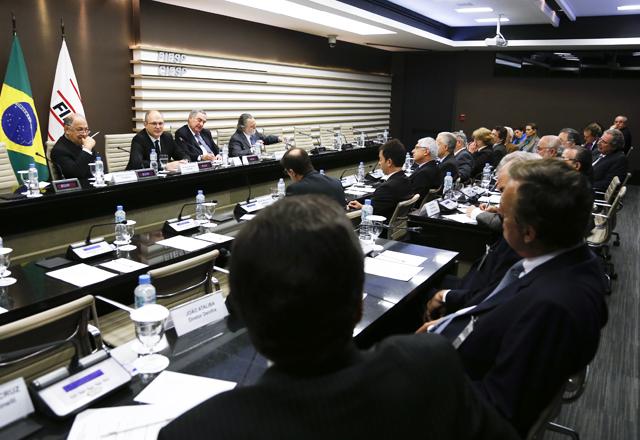 A reunião do Coinfra nesta quinta-feira (07/11): obras e logística em debate. Foto: Tâmna Waqued/Fiesp