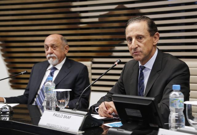 Jatene, à esquerda, e Skaf: oportunidades de investimento no estado do norte brasileiro. Foto: Tâmna Waqued/Fiesp