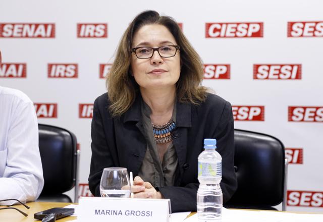 """Marina:  """"O empresário tem a autonomia de não ficar refém de uma agenda governamental apenas"""". Foto: Tâmna Waqued/Fiesp"""