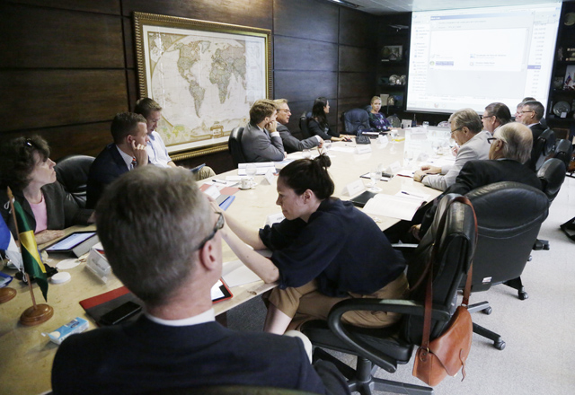 A reunião com os finlandeses na Fiesp nesta segunda-feira (27/01): mais acordos  Foto: Everton Amaro/Fiesp