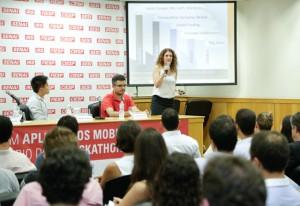 """Marina: """"É preciso estar atento às informações que as pessoas estão gerando"""". Foto: Tâmna Waqued/Fiesp"""