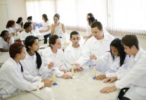 Sala da escola do Sesi-SP inaugurada em Igaraçu do Tietê: 515 matrículas. Foto: Everton Amaro/Fiesp