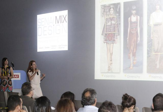 Palestra sobre tendências para a primavera-verão 2014/2015 no Senai Mix Design. Foto: Everton Amaro/Fiesp
