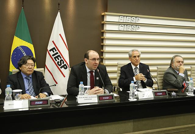 A reunião do Cosema nesta terça-feira (25/03): ações em nome da sustentabilidade. Foto: Tâmna Waqued/Fiesp