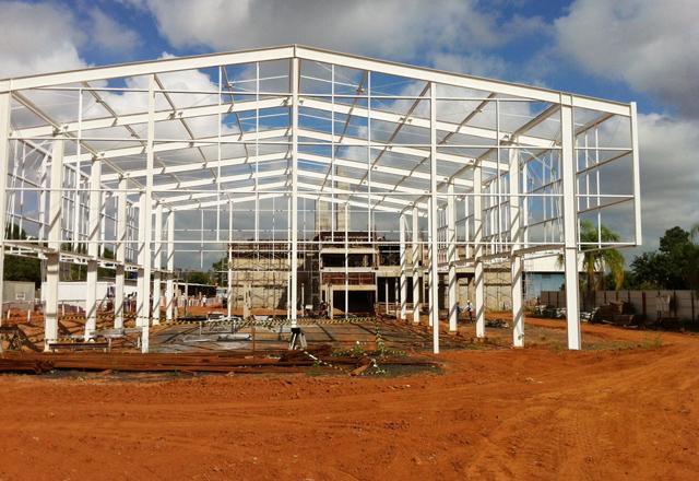 A obra da nova escola do Sesi-SP em São José do Rio Preto: área de 40 mil metros quadrados. Foto: Ayrton Vignola/Fiesp